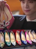 รองเท้าส้นสูงเกาหลี อึนฮาวอน Cinderella ประดับเพชร มี5สี