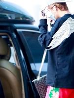 เสื้อแฟชั่นสีดำเกาหลี BTS แต่งลายปีกด้านหลัง