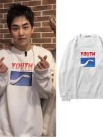 เสื้อแจ็คเก็ตเกาหลี EXO แต่งลายรูปภาพ มี3สี