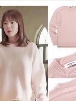 เสื้อสเวตเตอร์แขนยาวสีชมพู ซองเฮเคียว Descendants