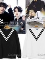 เสื้อแจ็คเก็ตเกาหลี BTS แต่งแถบตัวVคอเสื้อ มี4สี