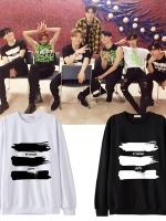 เสื้อแขนยาวเกาหลี GOT7แต่งแถบสีด้านหน้า มี3สี