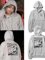 เสื้อฮู้ดแจ็คเก็ตเกาหลี BTS แต่งพิมพ์ลายหน้าหลัง มี4สี
