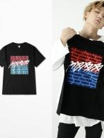 เสื้อยืดแขนสั้นเกาหลี สีดำ IKON พิมพ์ลายด้านหน้า