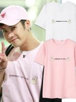 เสื้อยืดแขนสั้นเกาหลี GOT7 แต่งพิมพ์ลายด้านหน้า มี3สี
