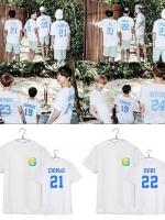 เสื้อยืดแขนสั้นเกาหลี สีขาว BTS SUMMER PACKAGE มี7แบบ