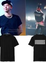 เสื้อยืดแขนสั้น คอนเสิร์ต BIGBANG แต่งแถบเส้นด้านหลัง มี6สี