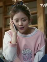 เสื้อแขนยาวสีชมพู ชเวยูนา Cinderella and Four Knights