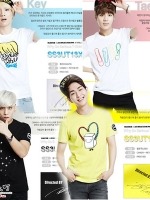 เสื้อยืดแขนสั้นเกาหลี SHINEE พิมพ์ลายด้านหน้า มี4แบบ