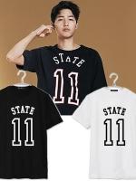 เสื้อยืดแขนสั้นเกาหลี ซง จุง-กิ พิมพ์ลาย STATE11 มี4สี