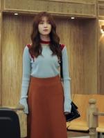 ชุดเซทแขนยาว สไตล์เสื้อกันหนาวถัก+กระโปรง โอยอนจู W Two Worlds