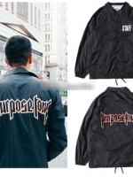 เสื้อแจ็คเก็ตแขนยาวสีดำ Justin Bieber PURPOSE TOUR