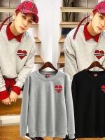 เสื้อแฟชั่นแขนยาวเกาหลี VIXX RAVI R.EAL1ZE แต่งรูปหัวใจ มี5สี