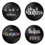 The Beatles button badge 1.75 inch custom backside 4 type Pinback, Magnet, Mirror or Keychain. Get 4 in package [10] thumbnail 1