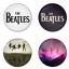 The Beatles button badge 1.75 inch custom backside 4 type Pinback, Magnet, Mirror or Keychain. Get 4 in package [7] thumbnail 1