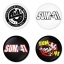 Sum41 button badge 1.75 inch custom backside 4 type Pinback, Magnet, Mirror or Keychain. Get 4 in package [6] thumbnail 1