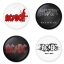 AC/DC button badge 1.75 inch custom backside 4 type Pinback, Magnet, Mirror or Keychain. Get 4 in package [2] thumbnail 1