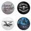 Avenged Sevenfold button badge 1.75 inch custom backside 4 type Pinback, Magnet, Mirror or Keychain. Get 4 in package [2] thumbnail 1