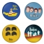 The Beatles button badge 1.75 inch custom backside 4 type Pinback, Magnet, Mirror or Keychain. Get 4 in package [4] thumbnail 1