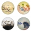 The Beatles button badge 1.75 inch custom backside 4 type Pinback, Magnet, Mirror or Keychain. Get 4 in package [5] thumbnail 1