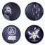 Linkin Park button badge 1.75 inch custom backside 4 type Pinback, Magnet, Mirror or Keychain. Get 4 in package [8] thumbnail 1