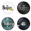 The Beatles button badge 1.75 inch custom backside 4 type Pinback, Magnet, Mirror or Keychain. Get 4 in package [9] thumbnail 1