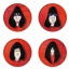 Ramones button badge 1.75 inch custom backside 4 type Pinback, Magnet, Mirror or Keychain. Get 4 in package [2] thumbnail 1