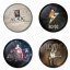 AC/DC button badge 1.75 inch custom backside 4 type Pinback, Magnet, Mirror or Keychain. Get 4 in package [1] thumbnail 1