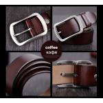 เข็มขัดหนังแท้ Cowather สีกาแฟ Style3