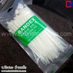 สายรัด เข็มขัด Cable Tie ยาว 8 นิ้ว สีขาว ยี่ห้อ BANDEX แบบแพ็ค 100 เส้น