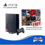 PS3 Super Slim 500GB (แปลง OFW Free 20-40 Games)