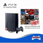 PS3 Super Slim 500GB แปลง OFW + ลงเกมให้ฟรี 26 เกม