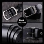 เข็มขัดหนังแท้ Cowather สีดำ Style3