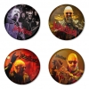 Judas Priest button badge 1.75 inch custom backside 4 type Pinback, Magnet, Mirror or Keychain. Get 4 in package [5]