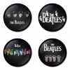The Beatles button badge 1.75 inch custom backside 4 type Pinback, Magnet, Mirror or Keychain. Get 4 in package [10]