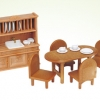 [SOLD OUT] ซิลวาเนียน..เฟอร์นิเจอร์ห้องอาหาร (UK) Sylvanian Families Dining Room Furniture Set