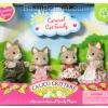 ครอบครัวซิลวาเนียน..แมวลายคาราเมล 4 ตัว (US) Calico Critters Caramel Cat Family