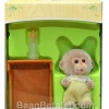 ซิลวาเนียน เบบี้ลิง+เปล (EU) Sylvanian Families Monkey Baby w/ Crib