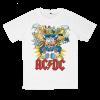 เสื้อยืด วง AC/DC สีขาว แขนสั้น S M L XL XXL [5]