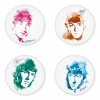 The Beatles button badge 1.75 inch custom backside 4 type Pinback, Magnet, Mirror or Keychain. Get 4 in package [1]
