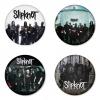 ของที่ระลึกวง Slipknot เลือกด้านหลังได้ 4 แบบ เข็มกลัด, แม่เหล็ก, กระจกพกพา หรือ พวงกุญแจที่เปิดขวด 1 แพ็ค 4 ชิ้น [6]
