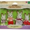 ครอบครัวซิลวาเนียนกระต่ายช็อคโกแล็ต 4 ตัว Sylvanian Chocolate Rabbit Family