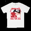 เสื้อยืด วง Metallica สีขาว แขนสั้น S M L XL XXL [2]