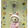 พวงกุญแจตุ๊กตาซิลวาเนียน-เบบี้กระต่ายบัตเตอร์มิลค์ (JP) Sylvanian Family Milk Rabbit Baby