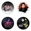 Muse button badge 1.75 inch custom backside 4 type Pinback, Magnet, Mirror or Keychain. Get 4 in package [9]