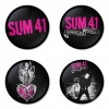 Sum41 button badge 1.75 inch custom backside 4 type Pinback, Magnet, Mirror or Keychain. Get 4 in package [1]