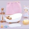 ซิลวาเนียน เฟอร์นิเจอร์ห้องอาบน้ำแบบอ่าง (EU) Sylvanian Families Bath and Shower Set