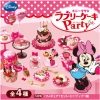 [Out of Stock] รีเม้นอาหารจำลอง ชุดปาร์ตี้เค้กของมินนี่ 4 แบบ Re-ment Lovely Minnie Mouse Cake Party