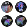 Muse button badge 1.75 inch custom backside 4 type Pinback, Magnet, Mirror or Keychain. Get 4 in package [13]