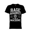 เสื้อยืด วง Rage Against the Machine แขนสั้น แขนยาว S M L XL XXL [2]